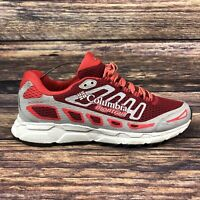 COLUMBIA MONTRAIL Women's Red Grey Running Gym Trainers Shoes UK 5 EU 38