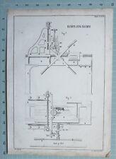 1847 ENGINEERING PRINT HAND PLANING MACHINE
