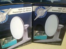 PAIR of 1955 1956 1957 Chevrolet chrome/stainless door mirrors FREE SHIPPING