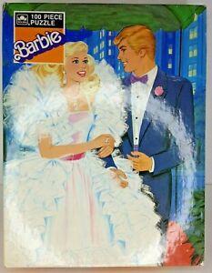 """Vintage Barbie 100 piece 12""""X15 jigsaw picture puzzle  Golden 1987"""