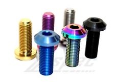 M10-1.25x25mm Titanium Metric Dress-Up Fasteners/Bolt, Angled Head, Sold Per Eac