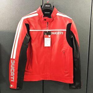 Giubbino in pelle Ducati 80s rosso  - Leather Jacket Ducati 80S red 9810224_
