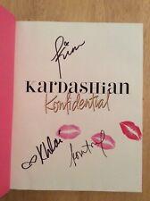SIGNED x3 Kardashian Konfidential Kourtney Kim Khloe Kardashian HC 1st + Pics
