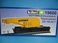 Kibri N 19600 Bausatz Gottwald Eisenbahn-Teleskopkran GS 100.06 neu,OVP,M 1:160,