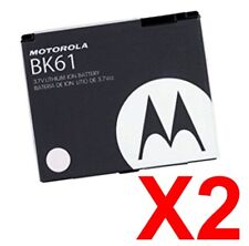 Lot Of 2 Oem Motorola Bk61 Battery Vu204, Z6c, Razr Maxx Ve, Rokr E8, L7c i425