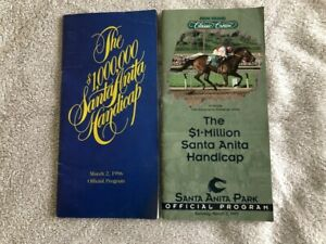1996 & 1997 SANTA ANITA HANDICAP PROGRAMS AUTOGRAPHED BY ALL JOCKEYS IN RACE