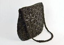 Small Purse/Hand Bag ~ Black Beads & Sequins on Black Fabric, #CHBP20