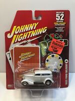 1/64 Johnny Lightning - Poker Cars Series 2 -  (White 1933 Ford Delivery)