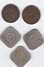 5 x Netherlands - 1  Cent & 5 Cent  LOT from  1913  to 1925   LOOK  RARE