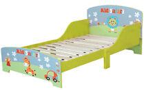 Toddlers Safari Animals Single Bed Frame Wooden Bed Childrens Bedroom Furniture