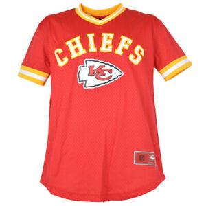 NFL Team Apparel Kansas City Chiefs V-Neck Twill Short Sleeve Youth Jersey