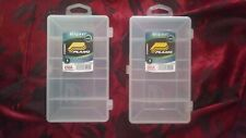 2x Plano 5 Slot Space Tacklebox Tackle Box Fishing Storage Organize Closet Gear