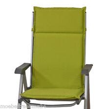 Gartenmöbel Auflagen für Hochlehner Sessel hoch in uni grün Kissen Sitzkissen