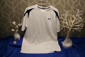 Under Armour Men's White Heat Gear Athletic Shirt Size Large activewear top jog