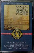 Vivaldi--6 Flute Concerti, OP. 10: Rampal (Cassette, 1985, CBS) NEW