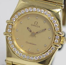 OMEGA Constellation Quartz Diamond Bezel 18K Solid Yellow Gold Ladies_289650