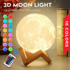Rechargeable Moon Lamp Night Light Kids Dimmable LED Color Change 3D Dimmabl Hot