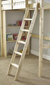 Pine Bunkbed Ladder - High Bunk Bed Slanted Ladder Solid Pine (EB94)