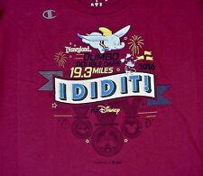 2016 Disneyland Dumbo Double Dare 19.3 Miles Maroon T-Shirt XL NEW