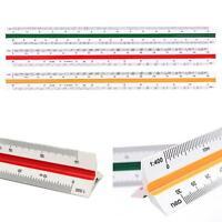 30cm Dreikant Maßstab Dreikantmaßstab Maßstabslineal Lineal Reduktionsmaßstab
