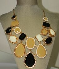 Kate Spade HUGE 'run around' framed stone statement necklace + earrings set NWT
