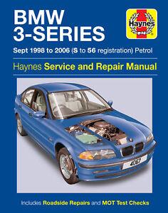 BMW 3-Series Petrol (Sept 98 - 06) Haynes Repair Manual