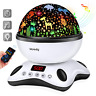 Moredig Baby Light Projector, Remote Control and Timer Design Rotating Night 12