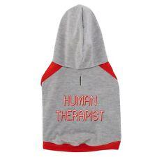 HUMAN THERAPIST Hooded Dog Shirt - SMALL Gray - Comfort Dog - BFF - Top Paw NWT