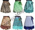 ZOZA Design Vintage Silk Sari Reversible Wrap Skirts Dress Wholesale India 10Pcs
