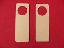 2 WOODEN MDF DOOR HANGER BLANKS ideal for crafts