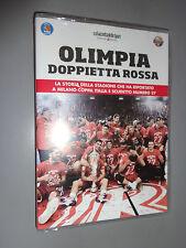 DVD OLIMPIA DOPPIETTA ROSSA COPPA ITALIA SCUDETTO 27 GAZZETTA BASKET MILANO