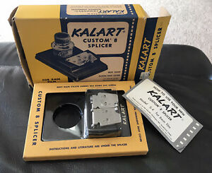 1960's Kalart Custom 8 Splicer- For 8mm film- With Instructions and Orig Box