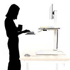 Motorised Table-Top Adjustable Height Desk Office Workstation White Design