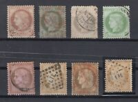 X2424/ FRANCE – CERES – 1870 / 1875 USED CLASSIC LOT – CV 310 $