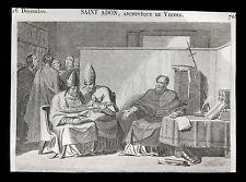 santino grabado 1800 S.ADONIS ARCHB. POR VIENNE