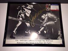 "Jake LaMotta Autograph 16"" X 20"" Framed With COA"