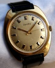 UVINTAGE JENT'S GERMAN WATCH ZENTRA 17 JEWEL WORKING SERVICED