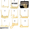 Personalized Sterling Silver 14KGold Any Name Plate Script Chain Necklace 18 Sty