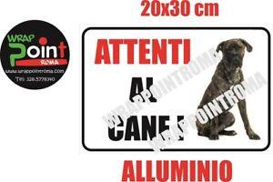 Cartello attenti al cane TARGA CANE CORSO in alluminio 20x30 cm