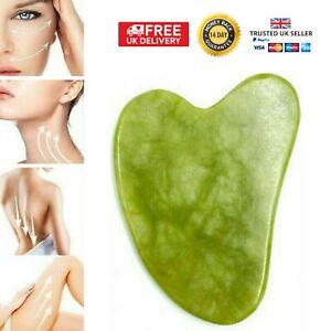 Jade Gua Sha Board Facial Body Massage Chinese Medicine Natural Scraping Tool UK
