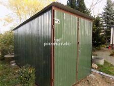 Blechgarage 2x3x2,14 RAL6020M 4-Kantprofil Halle Garage KFZ Lager NEU
