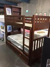 King Single bunk with storage + King single Trundle Timber NEW DESIGN KIDS