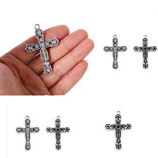 49*36mm 10pcs Tibetan Silver Alloy Cross Pendant Charm