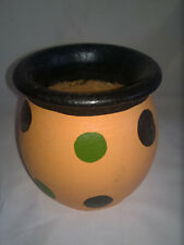 Hand Painted Small African Ceramic Pot