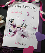 Personalised Card Birthday Friend Sister Aunt Colleague Cousin 25th 26th 27th