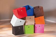 Regalbox Regalkorb Aufbewahrungsbox Schrankbox Box Würfel faltbar Regal weiß