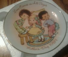 Avon Mothers Day Plate 1984 Love Comes In All Sizes With Easel