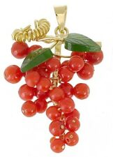 BASILIO LIVERINO Italy Coral 18K Gold Pendant CLOSEOUT Final sale