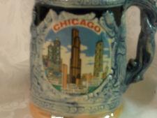 Vintage Chicago Illinois Buildings Souvenir Mug German Style Made in Japan