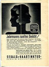 Sebalds Haartinktur-Sebald--Jedermanns zweites Gesicht -Werbung 1933 -